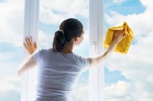 Washing windows